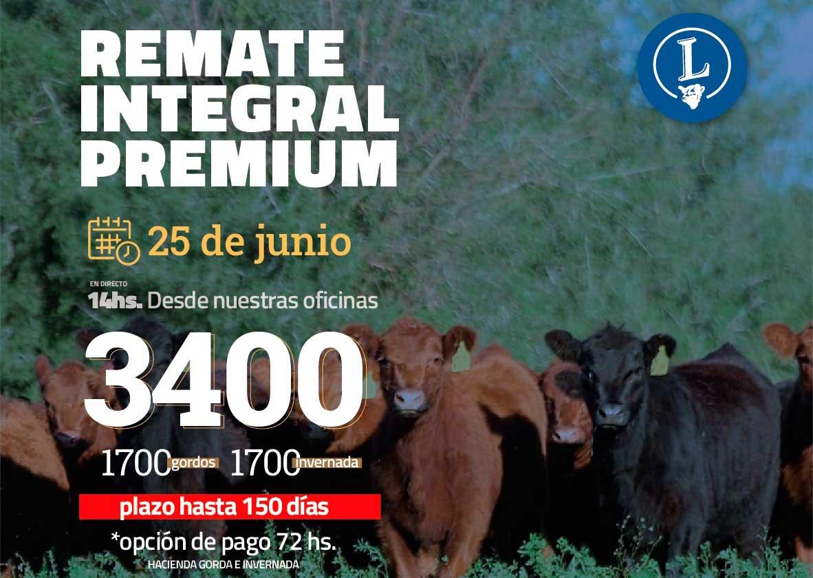 REMATE INTEGRAL PREMIUM DE CARLOS J. LANSER S.A. 25/06/2021